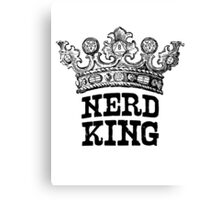 Nerd King Crown Logo (Black Ink) Canvas Print