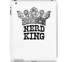 Nerd King Crown Logo (Black Ink) iPad Case/Skin