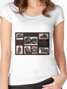 Rottweiler Memories Women's Fitted Scoop T-Shirt