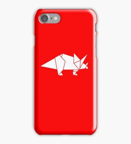 Prehistoric Origami - Triceratops  iPhone Case/Skin