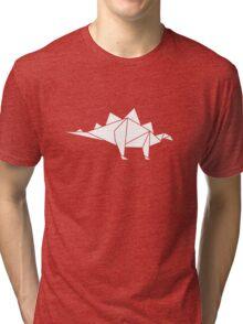 Prehistoric Origami - Stegosaurus Tri-blend T-Shirt