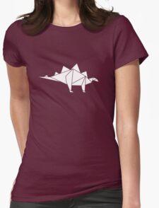 Prehistoric Origami - Stegosaurus Womens Fitted T-Shirt