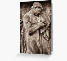 orpheus & harp Greeting Card