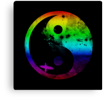 surfin v2 rainbow version Canvas Print