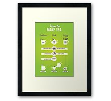 How to make tea Framed Print