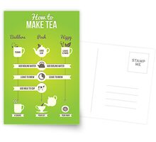 How to make tea Postcards