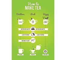 How to make tea Photographic Print