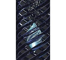 Illuminated Crystal in Double Helix Photographic Print