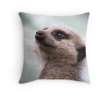 Majestic Meerkat Throw Pillow