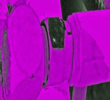 purple plug Sticker