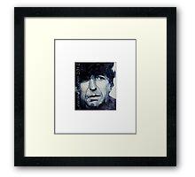 "Old Ideas "" Leonard Cohen "" Framed Print"