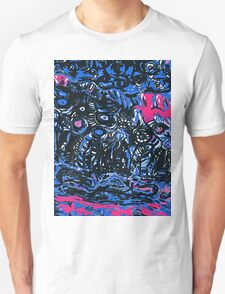 blue and black strata T-Shirt