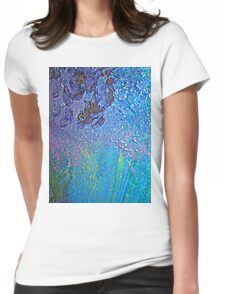 blue Womens Fitted T-Shirt