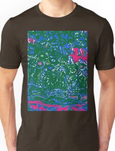blue and green strata Unisex T-Shirt