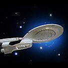 USS Enterprise by David W Bailey