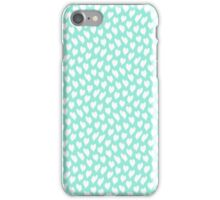 Polka dot love hearts white on pale blue waves iPhone Case/Skin