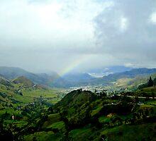 Rainbow Over The Yunguilla Valley by Al Bourassa