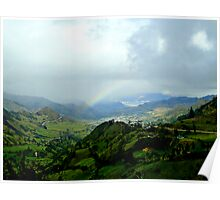Rainbow Over The Yunguilla Valley Poster