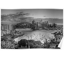 Etchings - Sydney A Study In Black and White - The HDR Experience Poster