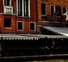 restaurant on Venice canal by KSKphotography