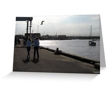 53 - AMBLE HARBOUR - Dave Edwards  2008. Greeting Card