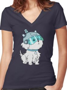 Snuffles/Snowball (Rick and Morty)  Women's Fitted V-Neck T-Shirt