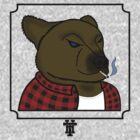 Smoking Bear by HammerandTong