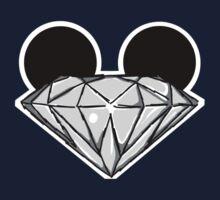 Diamond Ears BW Baby Tee