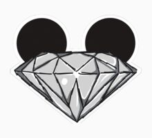 Diamond Ears BW Baby Tee