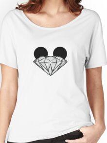 Diamond Ears BW Women's Relaxed Fit T-Shirt