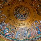 Dome Mosaic in St. Mark's Basilica, Venice, Italy. by Michael Brewer