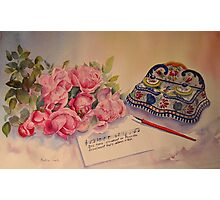 Roses of Picardy Photographic Print