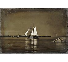Tall ships - textured Photographic Print