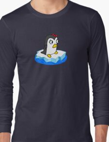 Girly Penguin Long Sleeve T-Shirt