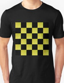 GOLD AND BLACK CHECKED PATTERN T-Shirt