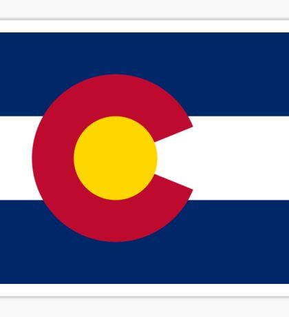 Colorado USA State Flag Bedspread T-Shirt Sticker Sticker