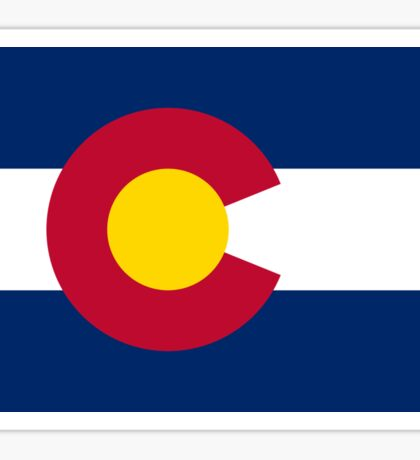 Colorado USA State Flag Bedspread T-Shirt Sticker Sticker
