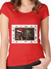 'Tis The Season To Be Jolly Holiday Greetings Women's Fitted Scoop T-Shirt