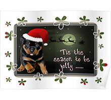'Tis The Season To Be Jolly Holiday Greetings Poster