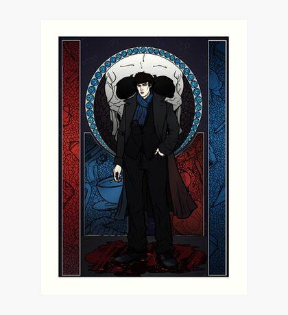 Sherlock Nouveau: Sherlock Holmes Art Print
