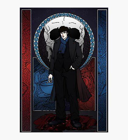 Sherlock Nouveau: Sherlock Holmes Photographic Print