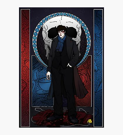 Sherlock Nouveau: Macabre Sherlock Holmes Photographic Print