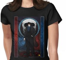 Sherlock Nouveau: Macabre Sherlock Holmes Womens Fitted T-Shirt