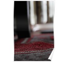 Red Rug and Piano Stool Leg Poster