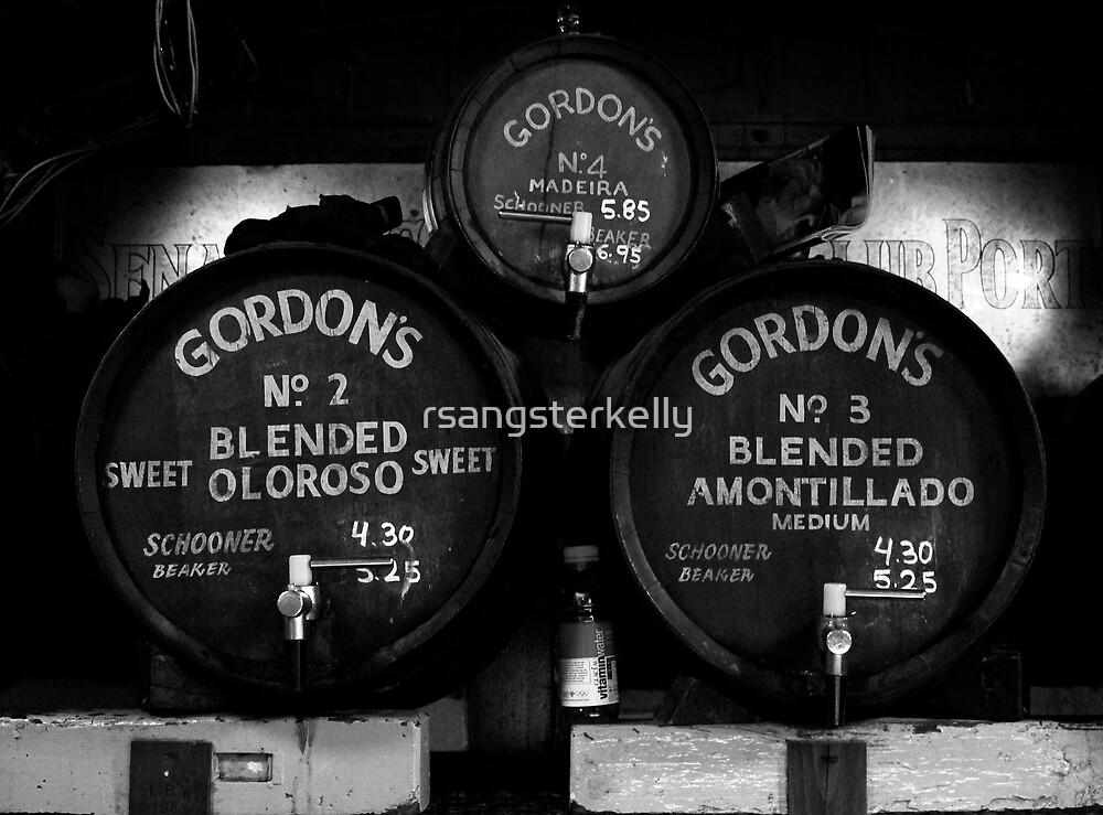 Gordan's Wine Bar, London - Wine Barrels  by rsangsterkelly