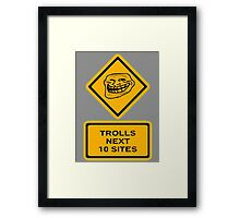 Trolls - sites Framed Print