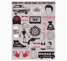 SUPERNATURAL QUOTES - STICKER by thischarmingfan