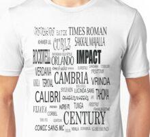 Fonts Unisex T-Shirt
