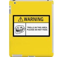 Warning - Trolls iPad Case/Skin