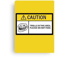 Caution - Trolls Canvas Print